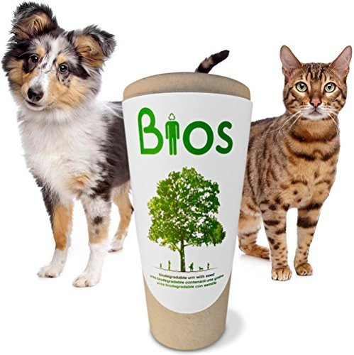 Bios Memorial Pet Loss Urn for your Dog, Cat, Bird, Horse or Small Animal. Death becomes a transformation as your beloved pet's ashes are returned to life by means of nature. Grow a tree. 100% biodegradable. 100% made with love. by Urna Bios Pet Memorial Urns