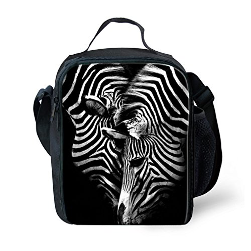 - Children Insulated Lunch Bags Kids 3D Animal Print Lunch Box Food Containers for School Travel 3D Print Zebra Lunch Tote