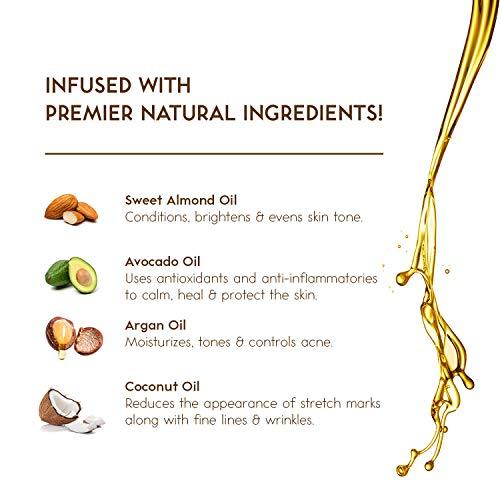 O Naturals Exfoliating Coconut Oil Dead Sea Salt Deep-Cleansing Face & Body Scrub. Anti-Cellulite Tones Helps Oily Skin…