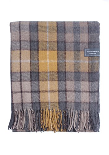 The Tartan Blanket Co.. Recycled Wool Knee Blanket Buchanan Natural Tartan 29.5