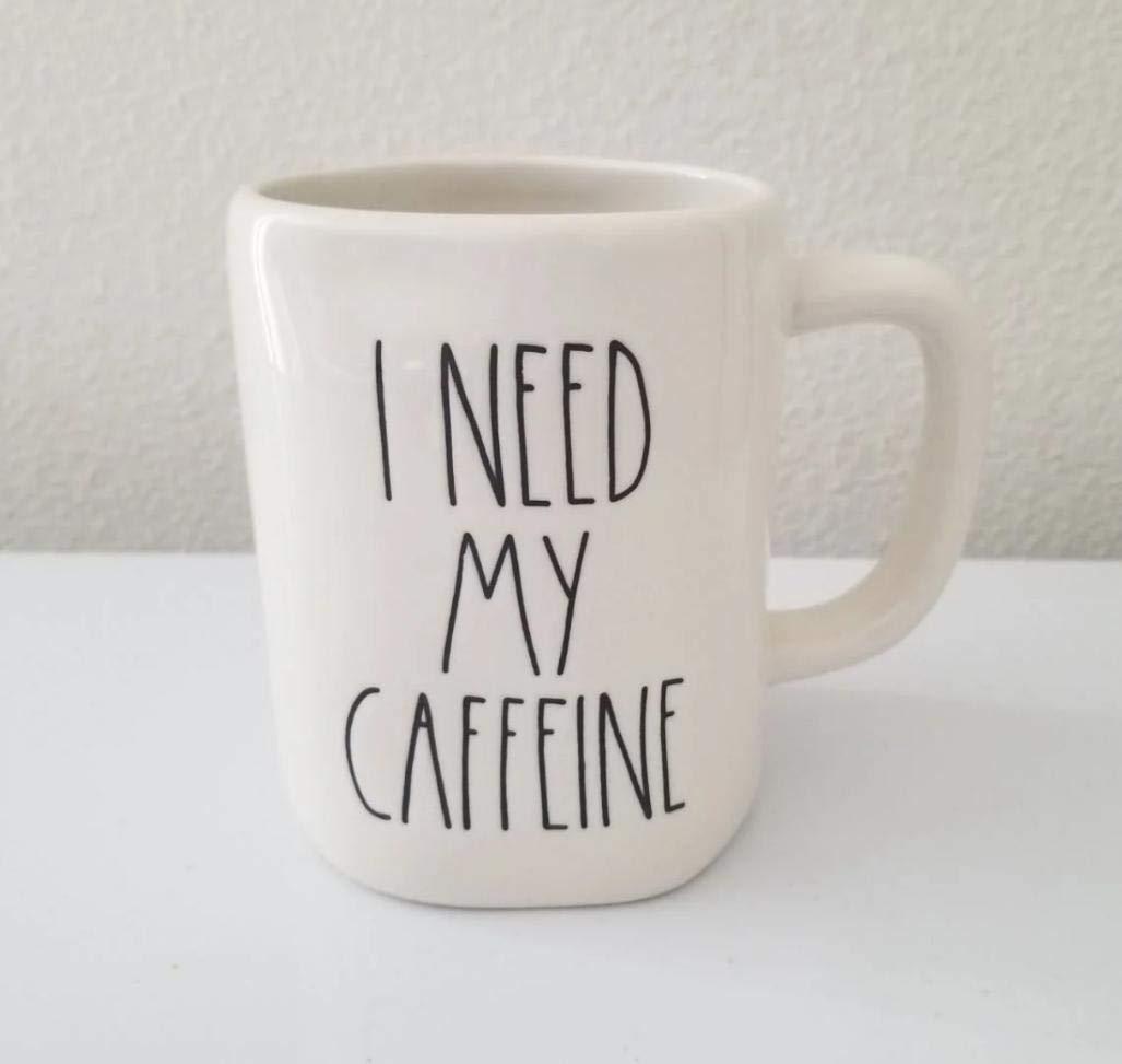 Rae Dunn By Magenta I need my caffeine Ceramic LL Coffee Tea Mug