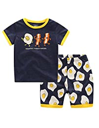 "CNBABY ""The Walking Fruit"" Summer Clothes Toddler Boys Short Pajamas 100%Cotton"
