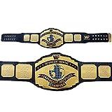 WWE / WWF Intercontinental Championship Wrestling Leather Replica Adult Belt Black