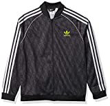 adidas Originals unisex-youth SST Top Black/Grey/White/Yellow Small