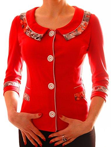 Poshtops - Camiseta de manga larga - para mujer Coral