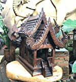 Super Large Antique Handmade Spirit House Temple Haunted House Temple, 16'' x 12'' x20'', Products From Thailand
