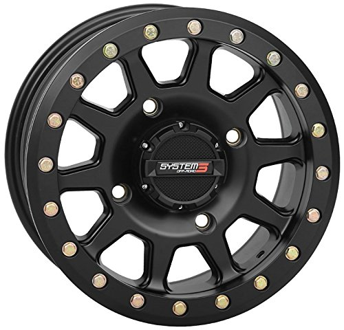 System 3 SB-3 Beadlock 15x7 ATV/UTV Wheel - Matte Black (4/137) 5+2 [19-0084] System 3 Off-Road