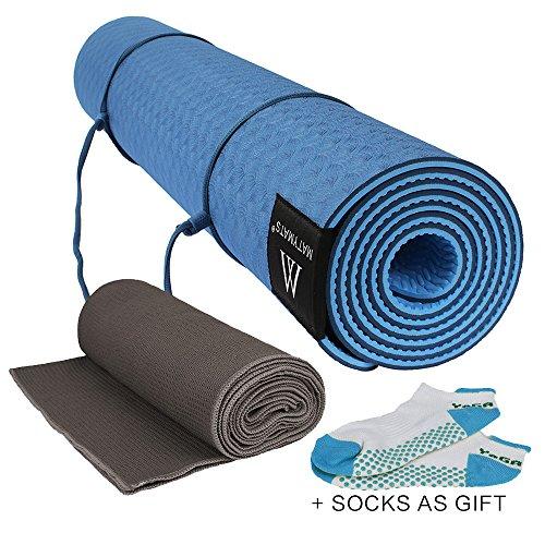 Yogaaddict Yoga Mat Towel Hand Towel Combo Set 100: Ranbo Yoga Headstand Exercise Bench/body Lift Inverted