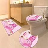 MikiDa Large Contour Mat Teen Interior Of Princess Bedroom ed Ornament Pillow Lamp Mirror Soft Non-Slip Water
