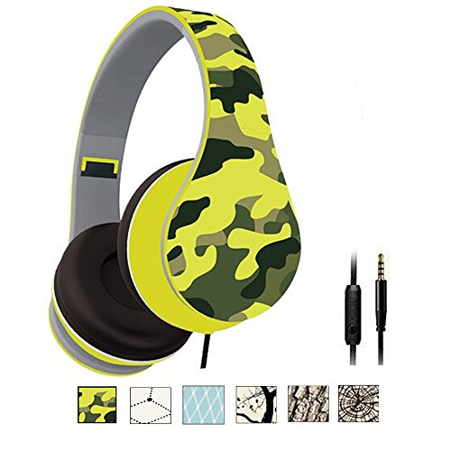 Lightweight Over Ear Headphones Camouflage Microphone