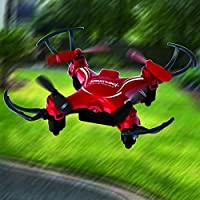 PCT Brands Zero Gravity Mini Pocket Drone 4 Channel 6 Axis Gyro RC Micro Quadcopter, Red, Small