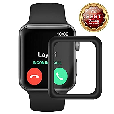 Screen Protector Compatible Apple Watch 42mm 38mm Series 3 2 1 HD Clear Anti-Bubble Full Coverage 3D Curved Edge Screen Anti-Scratch Tempered Glass Screen Protector iwatch 42mm