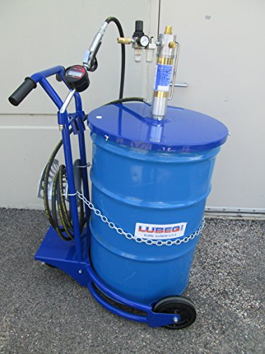 Drum Pneumatic Pump (LUBEQ Oil lube cart No 19448 016 with Air-Operated 5:1 pump, Flow Meter, Hose, Heavy Duty Cart)