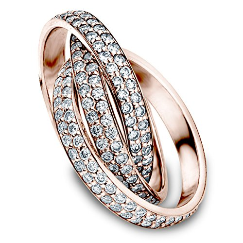 18K Rose Gold Diamond Rolling Eternity Ring (3.0 cttw, G-H Color, SI1-SI2 Clarity) Size 13