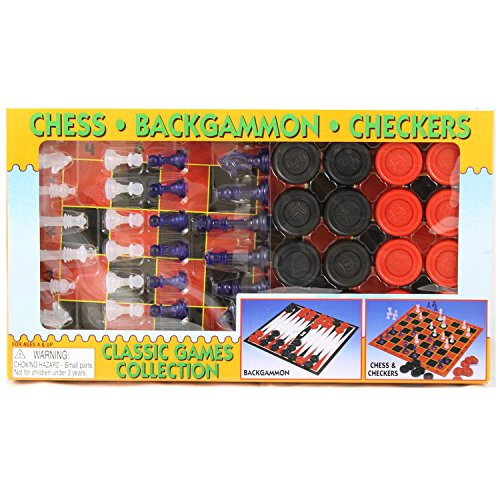 Master Toys Classic Games Collection Backgammon, Chess & Checkers All-in-One