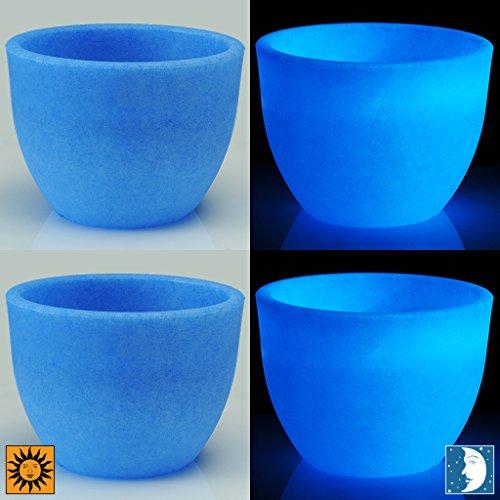 Design Toscano CF2691 Set of Two Blue 12 inch Lido Flower Cachepots-Revolutionary Garden Decorations Planter Urn, 12