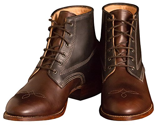 Ranch Road Boots Mens Bee County Leather Lace-Up Packer Boot Brown and Black bABZxh
