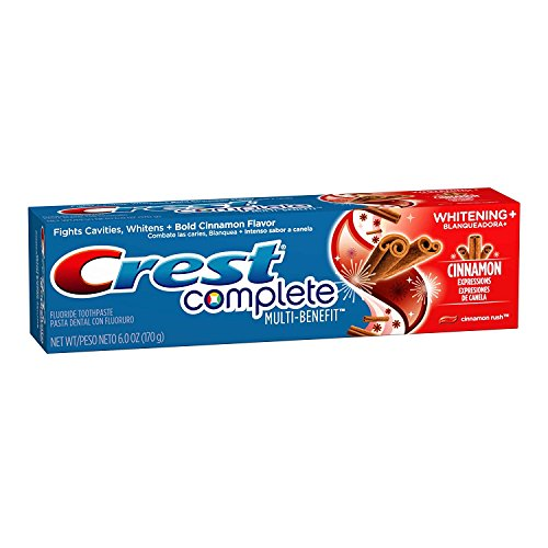 - Crest Complete Toothpaste Whitening Cinnamon Expressions 6 oz