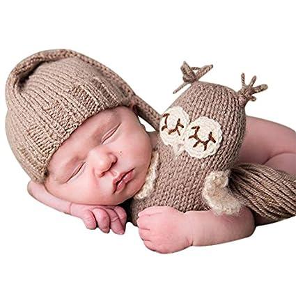 MIOIM Bebé Recién nacido conjuntos Gorros+Muñecas de lana para Fotografía Atrezzo Treje