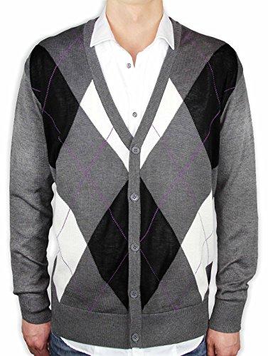 Argyle Cardigan Sweater - 4