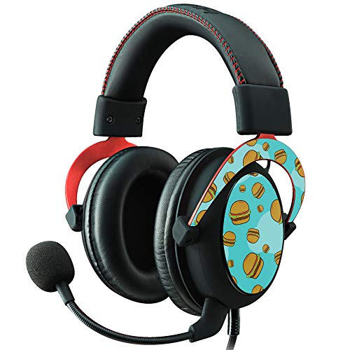 (MightySkins Skin for Kingston HyperX Cloud II Gaming Headset - Burger Heaven | Protective, Durable, and Unique Vinyl Decal wrap Cover | Easy to Apply, Remove, and Change Styles | Made in The USA)
