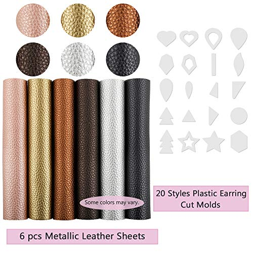 Caydo 3 Pieces Bows Earrings Making Templates Cutting Stencil for Hair Bows and Leather Earrings DIY Crafts