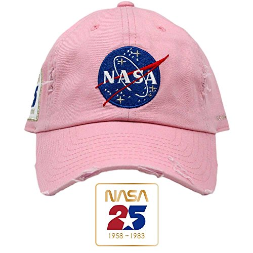 FIELD GRADE Skylab NASA Hat 25th Anniversary Patch (Pink (25th Anniversary Cap)