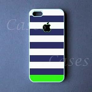 Iphone 5 Case - Blue Green Strip Cute Pretty Apple Iphone 5 Cover