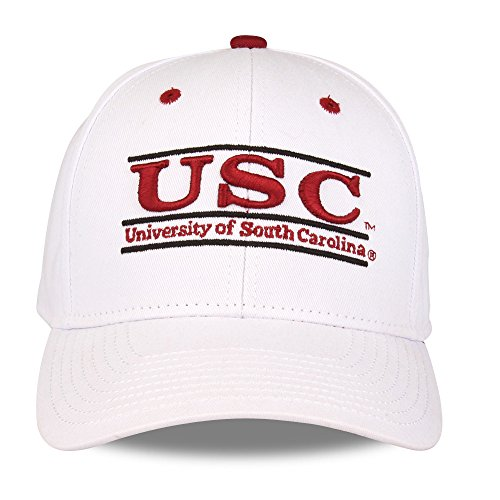 - The Game NCAA South Carolina Fighting Gamecocks Bar Design Hat, White, Adjustable