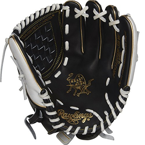 Rawlings Heart of The Hide Left-Handed Fastpitch Softball Glove, Black, 12