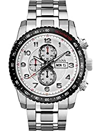 Marine Star Chronograph Stainless Steel and Bracelets Silver Tone Dial Day And Date