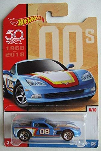 Hot Wheels 00s, BLUE CORVETTE C6 8/10 50TH ANNIVERSARY