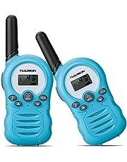 FLOUREON Twins Walkie Talkies 8 Channel PMR446MHZ Two Way Radio for Kids Up to 3300Meters/3Miles Range Handheld Interphone License-Free Orange