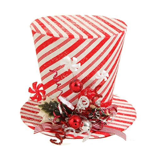 9 peppermint top hat christmas decoration