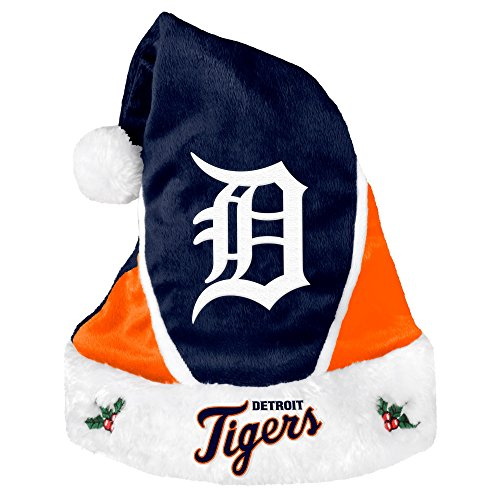 MLB Detroit Tigers 2014 Colorblock Santa Hat, Blue