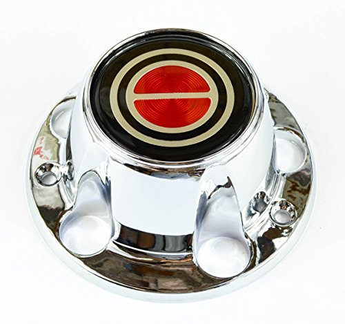 BB Auto New Wheel Hub Center Cap Chrome Red Replacement for 1980-1996 Ford F150 Truck Bronco Van