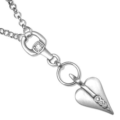 ad188f8d1 * Fabulous Danon Jewellery : Long Chain Necklace with Swarovski Detailed  Heart: Amazon.co.uk: Jewellery