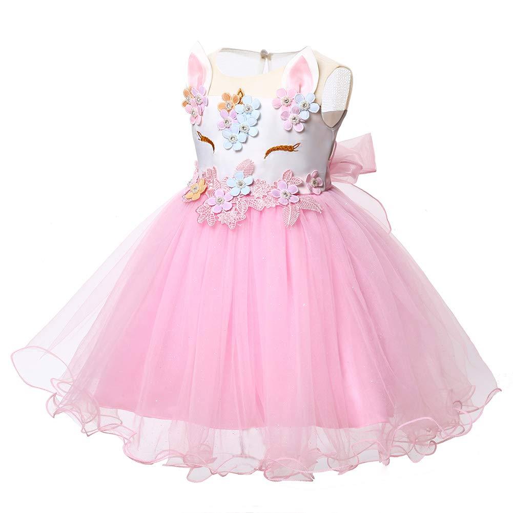LZH Bebé Niña Disfraz de Unicornio Vestido de Princesa Tutu Disfraces de  Cumpleaños Vestido del Arco Ampliar imagen c4795a5536d
