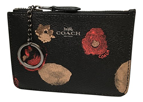 Coach Halftone Floral Key Coin Pouch F55999