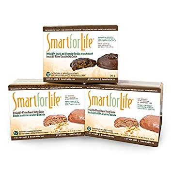 Smart for Life 3-12ct. Boxes Irresistible Winner Variety Pack – 2 Boxes Peanut Butter Chocolate, 1 Box Chocolate Chip