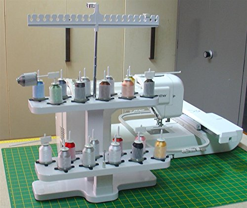 Amazon Embroidex 40 Spool Thread Stand For All Home Awesome Spool Holder For Brother Sewing Machine