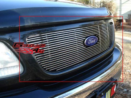 - APS F65722A Polished Aluminum Billet Grille Bolt Over for select Ford F-150 Models