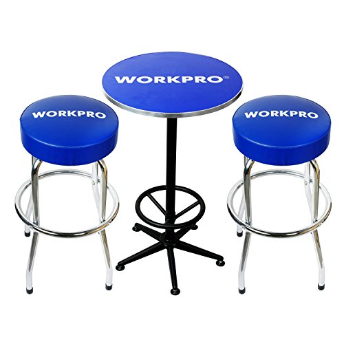 WORKPRO W004401A Workshop Table & Two Stool - Set Bench Stool