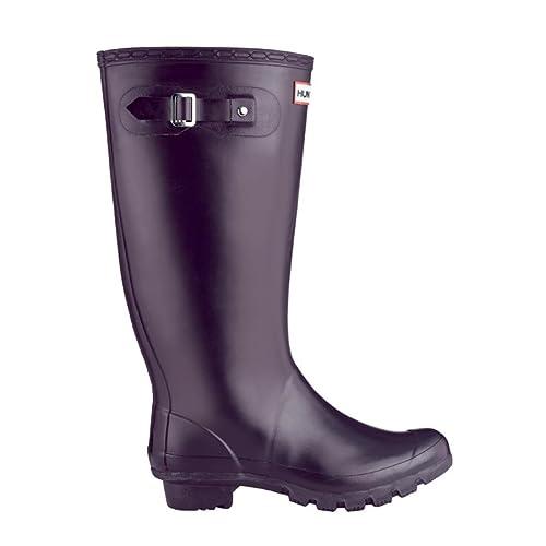 3ca0566e Hunter - Botas de Agua, Color Berenjena, Talla 37: Amazon.es: Zapatos y  complementos