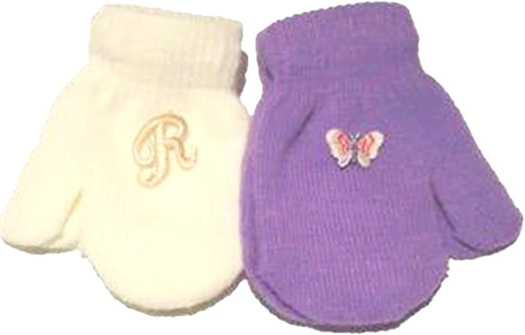 Two Pairs Magic Mittens for Infants Ages 6-24 Month 1 Pair with Monogram