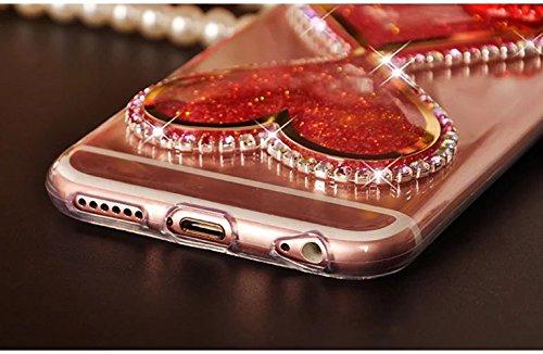 para iPhone 6s Funda, para iPhone 6 Case, Vandot Flexible TPU Protective Carcasa con el Soporte del Orejas de Conejo, 3D Fluido Líquido Quicksands Enchapado Bumper Suave Cubierta del Gel de TPU con la YGXXLS 02