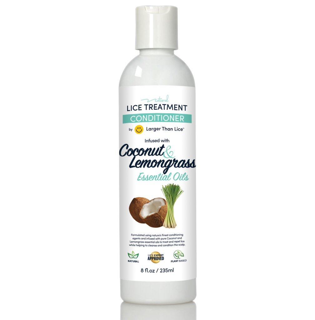 Coconut & Lemongrass Lice Treatment Conditioner by Larger Than Lice