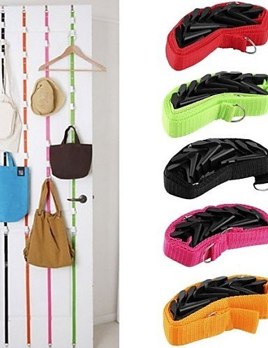 Adjustable Seamless Door Hook Multi-purpose Storage Rope Hook Providing A Convenient Location To Hang Clothing And Accessories, Including Coats, Jackets, Scarves, And Purses (Random Color)