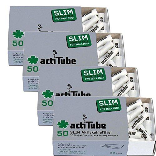 actiTube - Filtros Finos de carbon Activo (7,1 m, 4 Paquetes de 50 Unidades) Filtros de carbon Acti