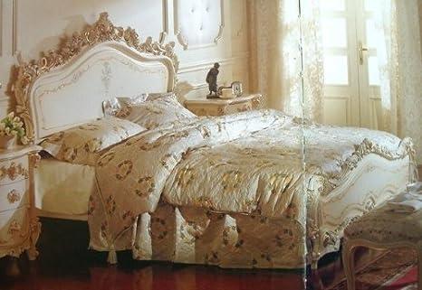 LouisXV Letto Matrimoniale Stile Barocco, 180 x 200 cm, Adatto per ...